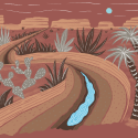 Illustration of what the next Southwestern US megadrought might look like.