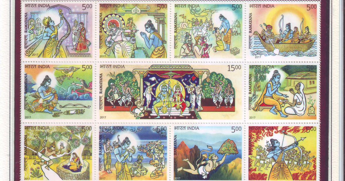 Hindu epic Ramayana's global journey on postage stamps — Quartz India