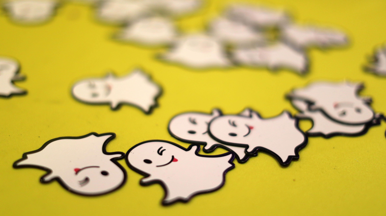The logo of messaging app Snapchat i