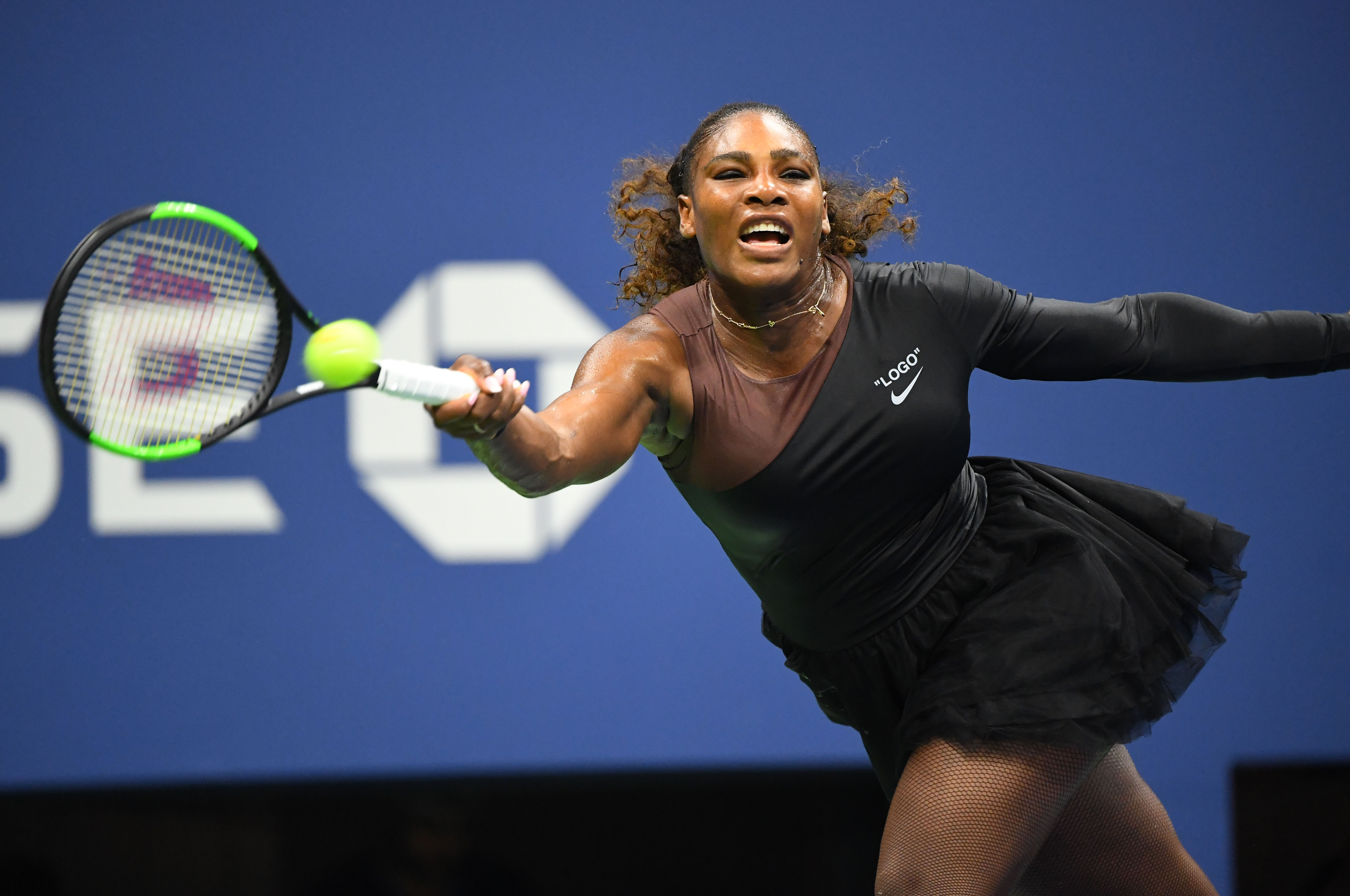 Serena Williams on day one of the 2018 US Open.