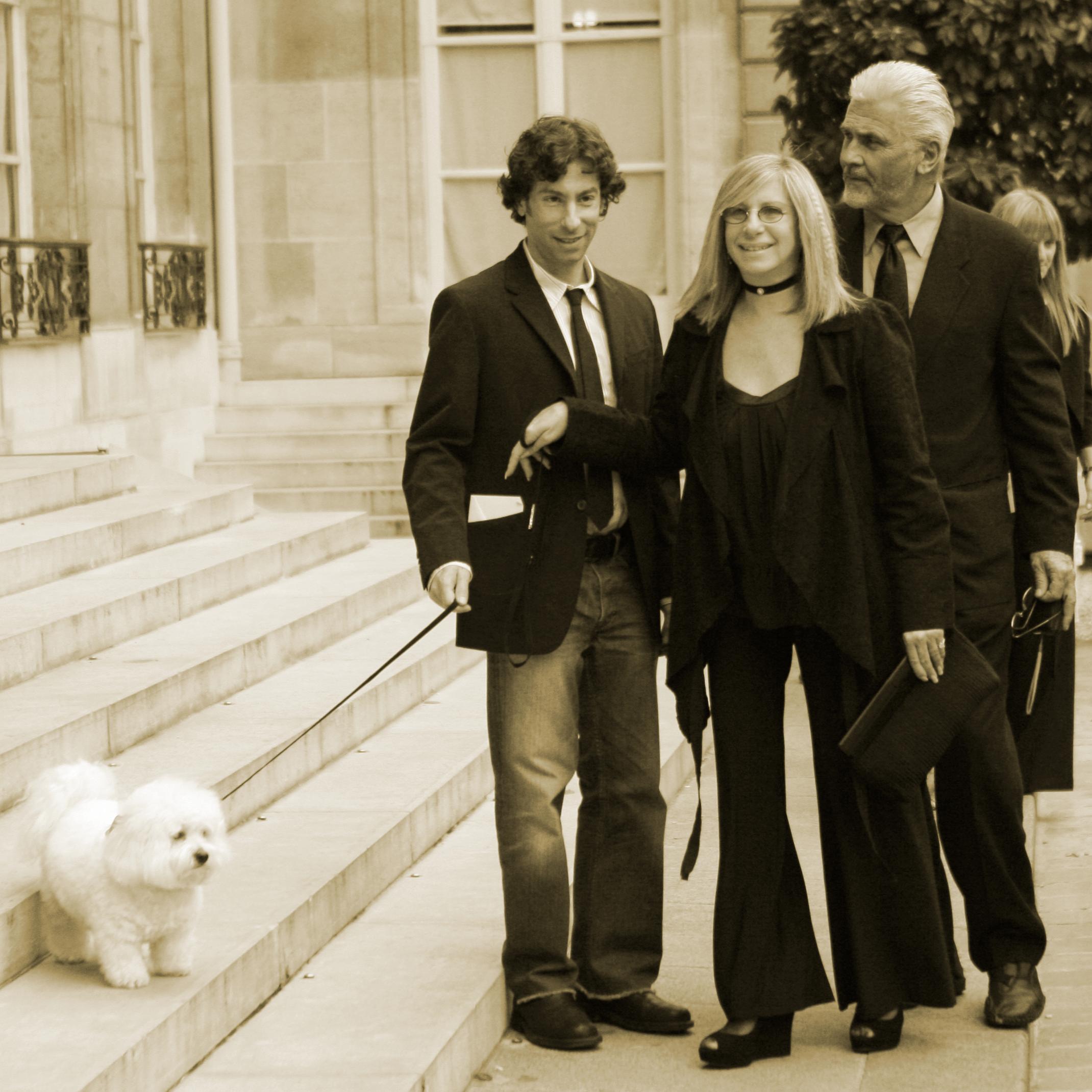 Barbra Streisand and her cloned dog.