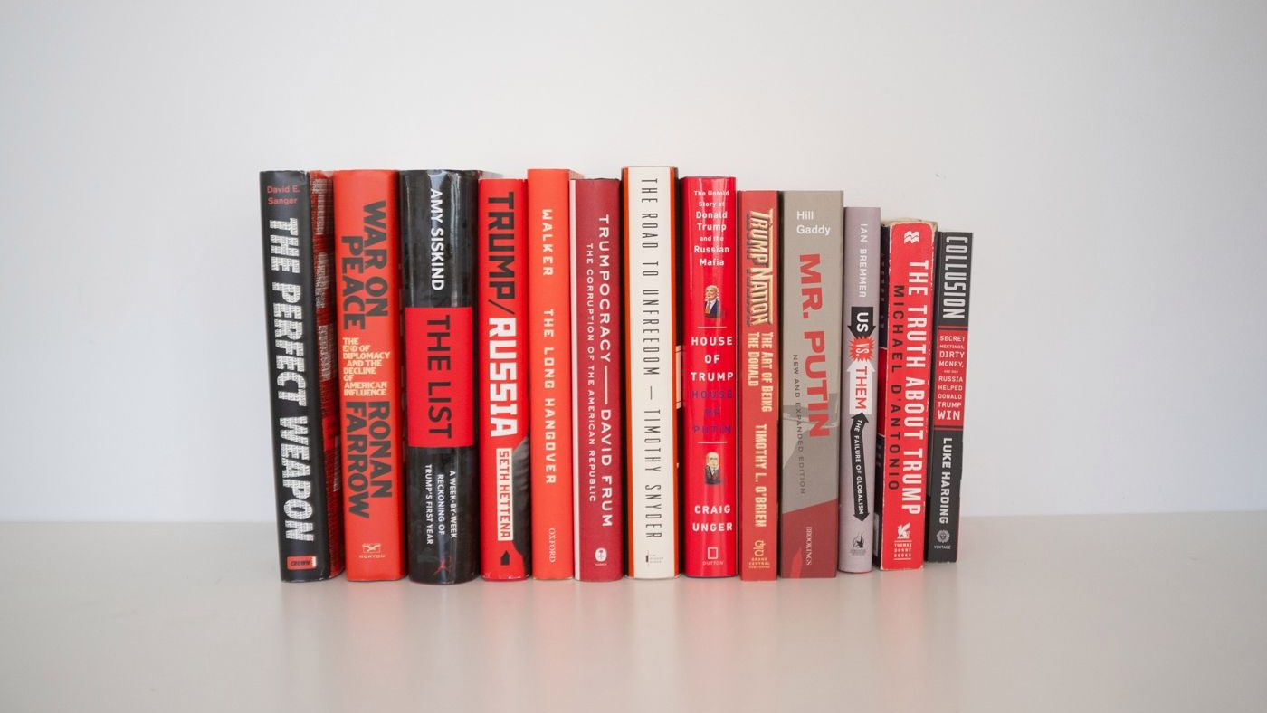 Trump-era books are all red and black