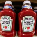 This is a display of Heinz Ketchup on display in a market in Pittsburgh on Wednesday, Feb. 21, 2018. (AP Photo/Gene J. Puskar)