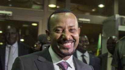 """FILE - In this Wednesday, June 20, 2018, file photo, Ethiopia's Prime Minister Abiy Ahmed, in Addis Ababa, Ethiopia. Fitsum Arega the chief of staff for Prime Minister Ahmed, announced on Twitter, Sunday July 22, 2018, that Ahmed says the country has """"no option"""" but to pursue multi-party democracy in the latest shakeup in a country ruled for decades by a single coalition."""