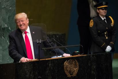 President Donald Trump addresses the 73rd session of the United Nations General Assembly