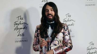 Designer Alessandro Michele poses in the winners room after winning the International Accessories Designer Award at the Fashion Awards in London, Monday, Dec. 5, 2016. (Photo by Joel Ryan/Invision/AP)