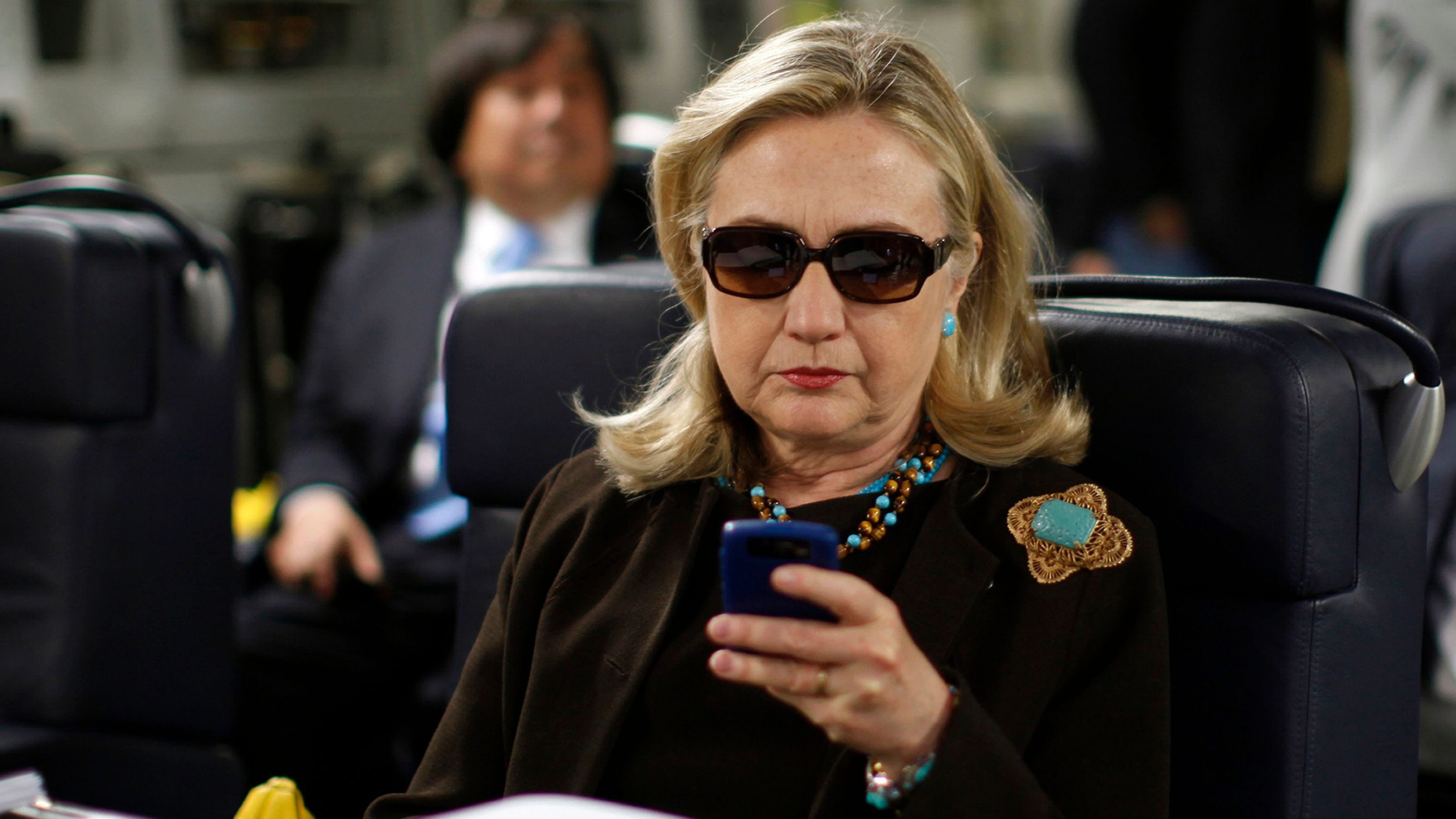 Hillary Clinton and smartphone