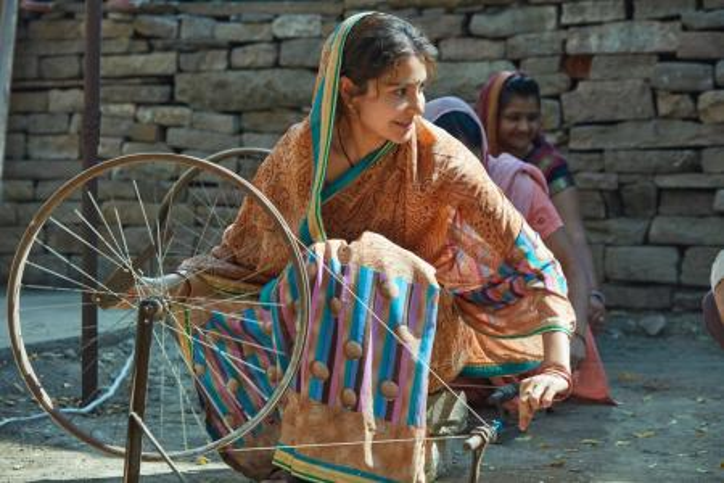 Anushka Sharma using Charkha