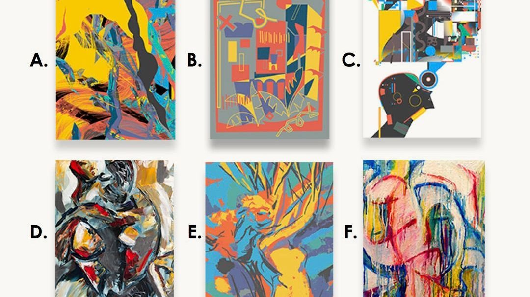 Can you guess which of these paintings was not made by a human?