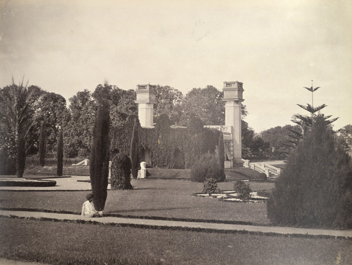 A photograph of Lal Bagh in the 1860s by Nicholas Bros. (Photo credit: British Library/Wikimedia Commons)