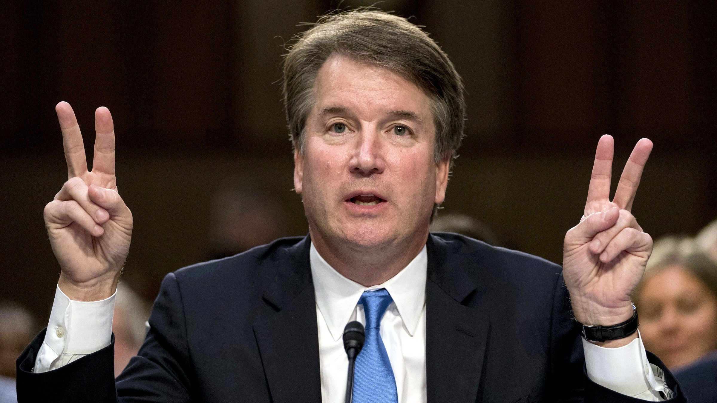 President Donald Trump's Supreme Court nominee, Brett Kavanaugh testifies before the Senate Judiciary Committee on Capitol Hill in Washington, Wednesday, Sept. 5, 2018, for the second day of his confirmation to replace retired Justice Anthony Kennedy.
