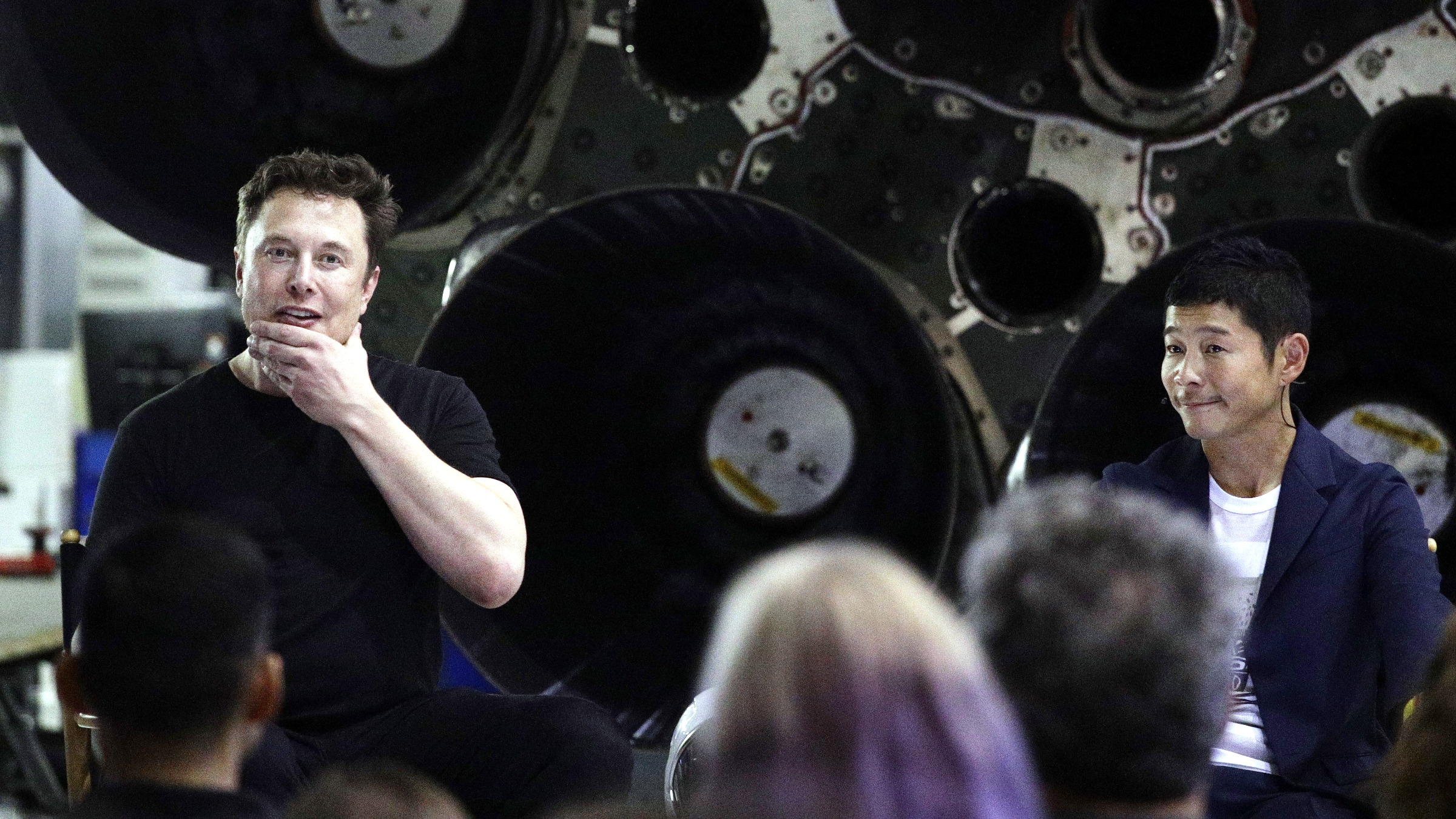 Image result for yusaku maezawa and elon musk