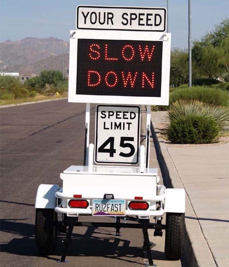 That sign telling you how fast you're driving may be spying on you