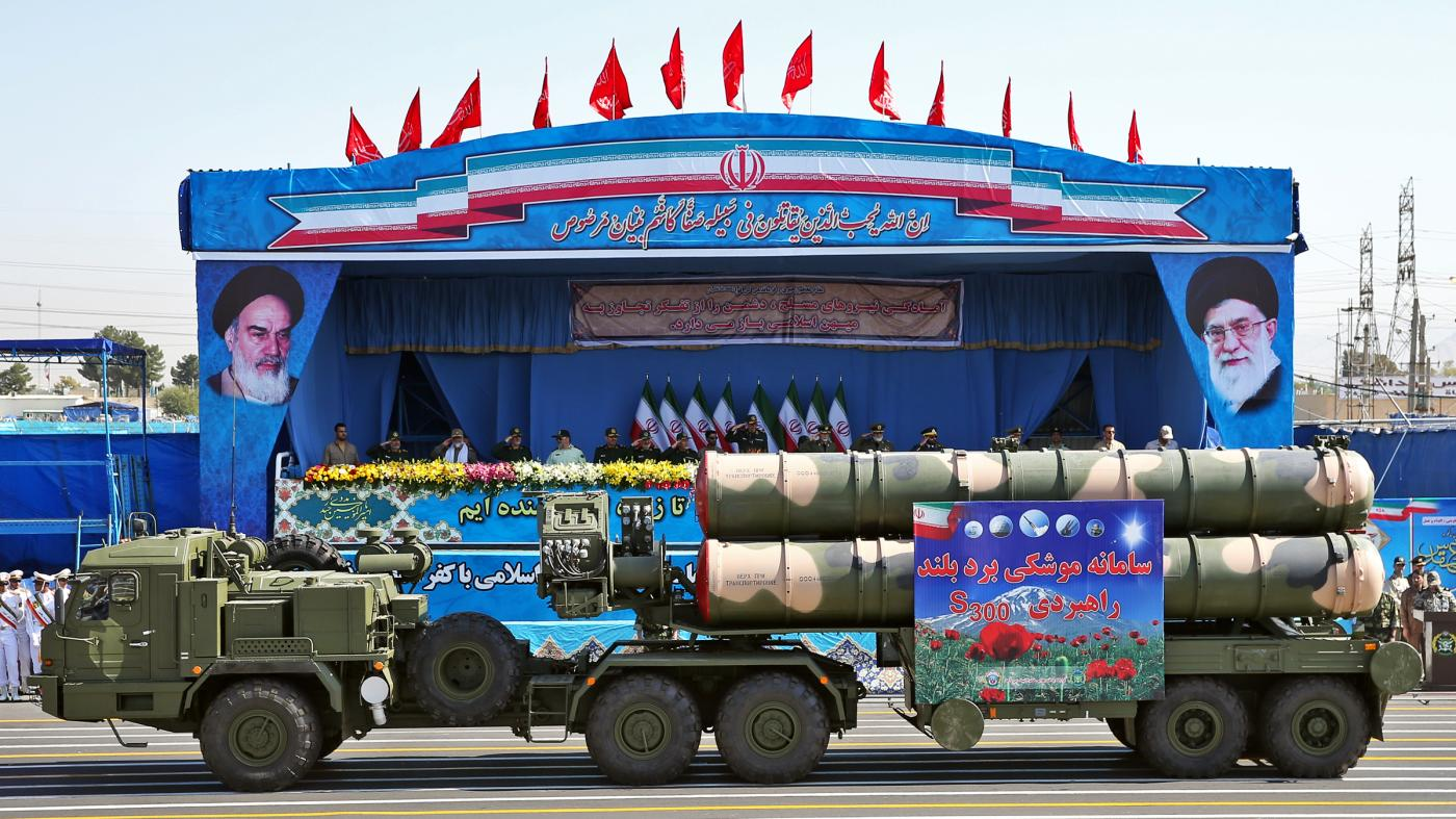 Satellite images show a missile launcher following Iran's Ayatollah Khamenei