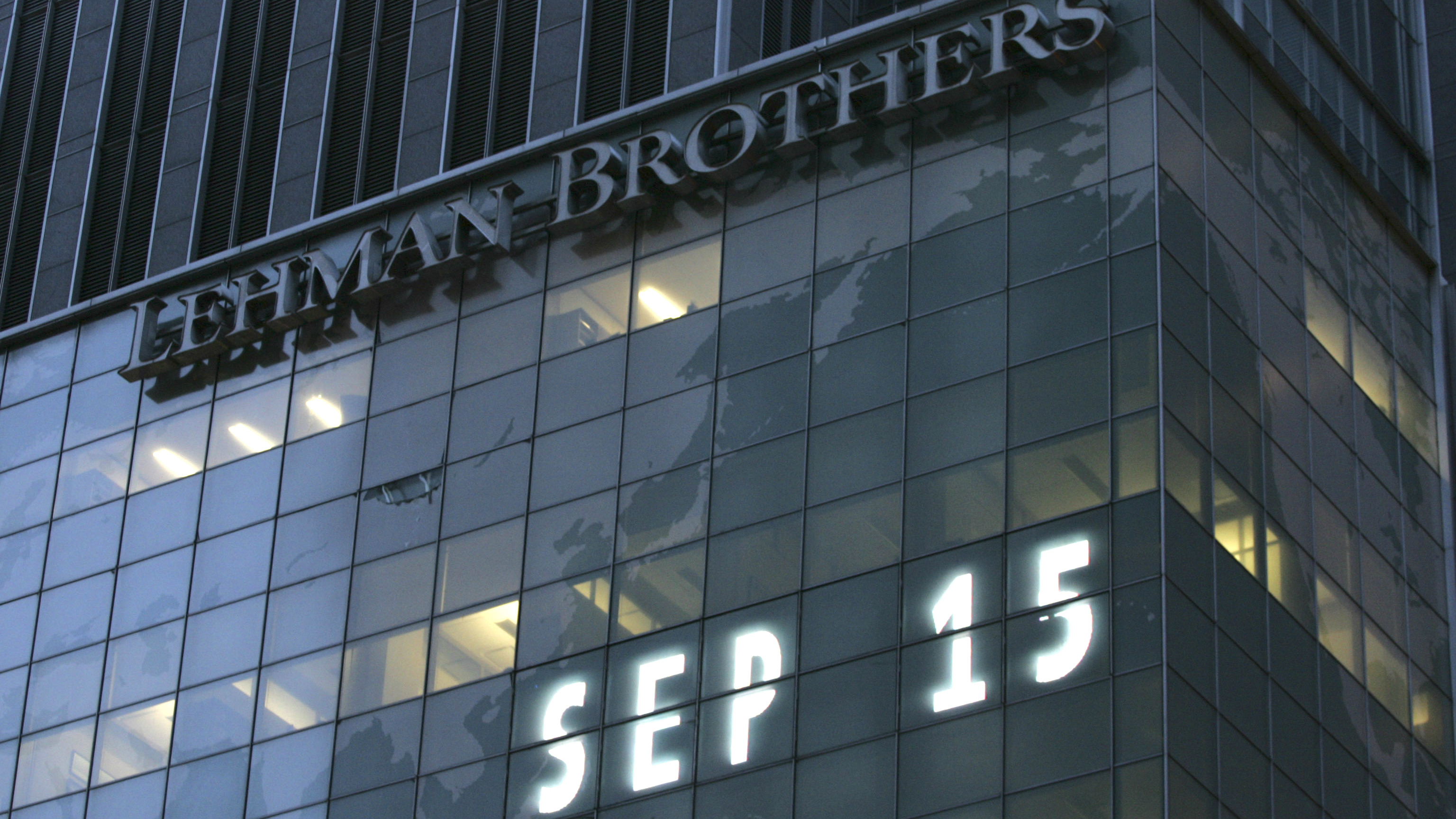 An image of the Lehman Brothers building.