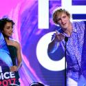 Liza Koshy and Logan Paul accept the award for choice female and male web stars at the Teen Choice Awards at the Galen Center on Sunday, Aug. 13, 2017, in Los Angeles.