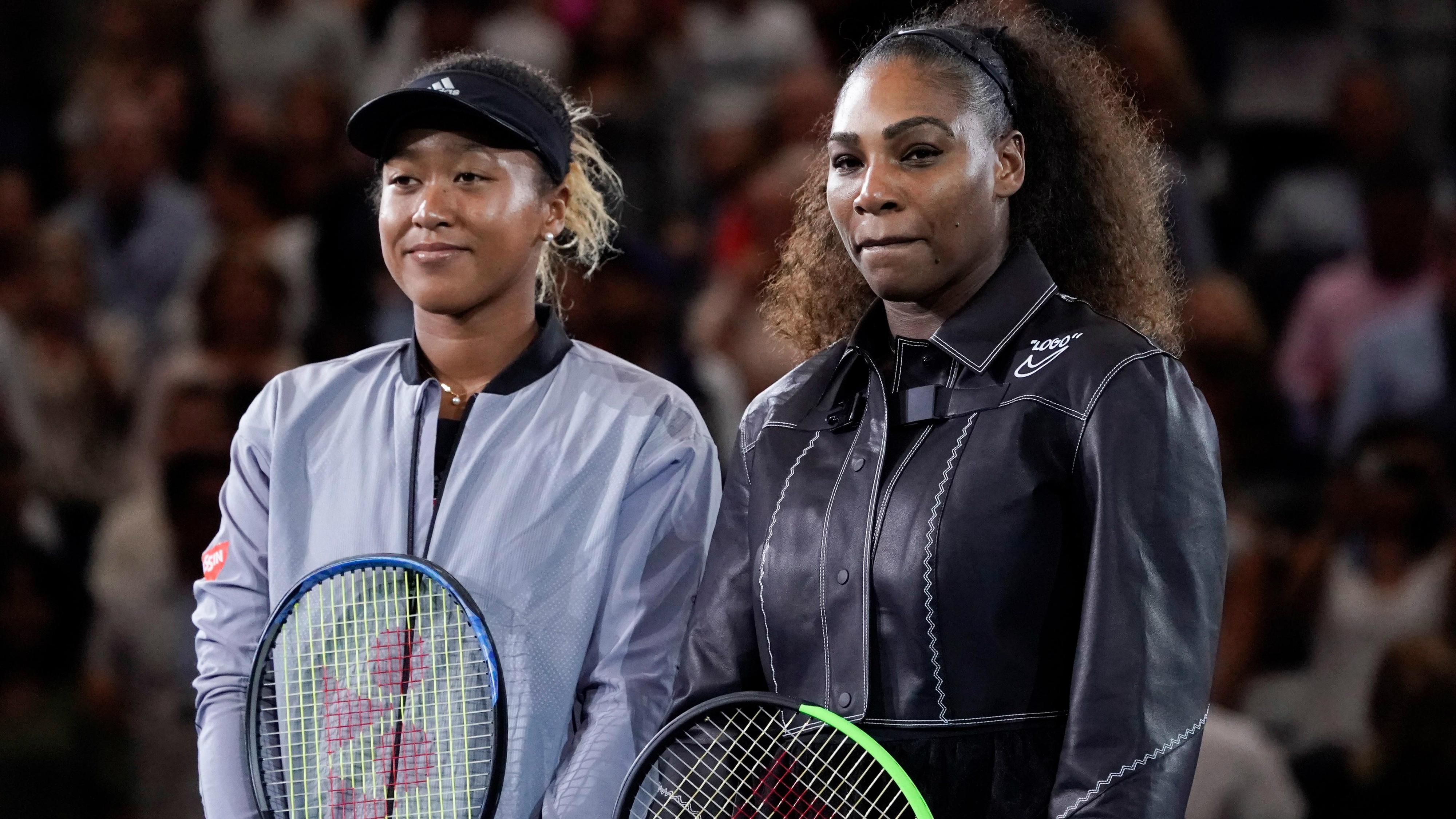 Naomi Osaka and Serena Williams before the US Open final
