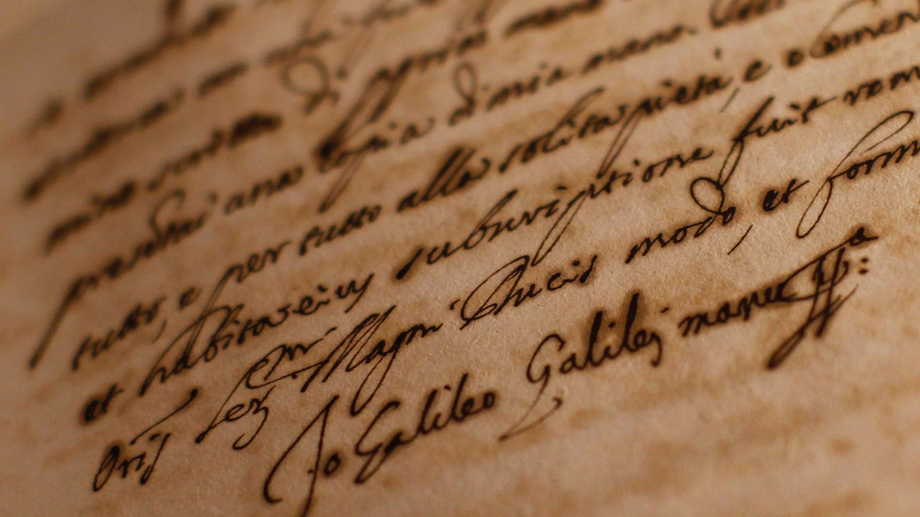 Galileo's newly discovered letter shows his clever attempt to outsmart the Catholic Church