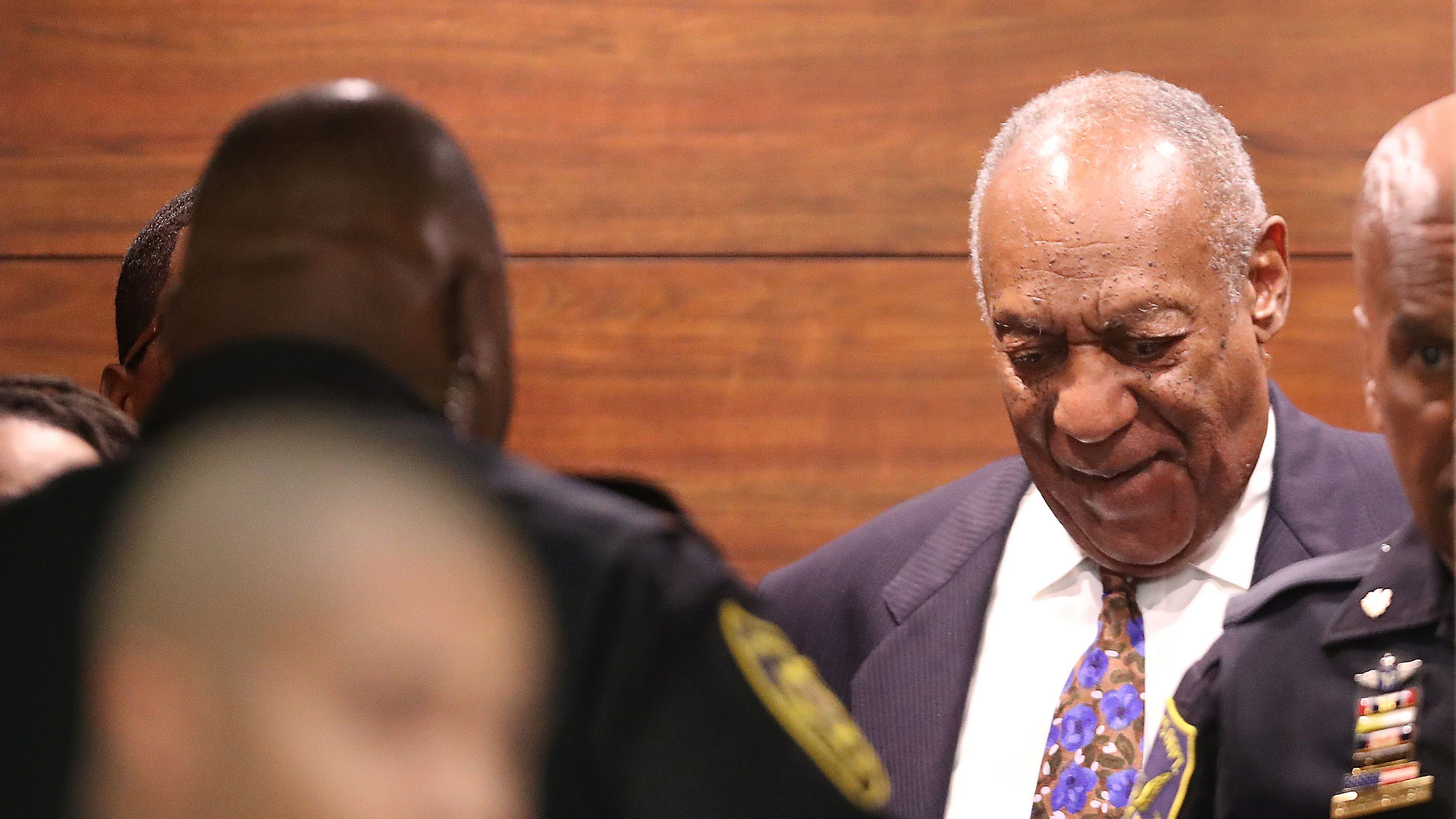 Actor and comedian Bill Cosby leaves the Montgomery County Courthouse after the first day of his sexual assault trial sentencing in Norristown, Pennsylvania.