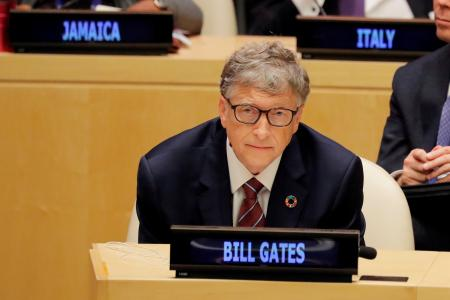 Microsoft Founder Bill Gates attends U.N. Secretary General Antonio Guterres' High-Level meeting on Financing during 73rd United Nations General Assembly in New York, U.S., September 24, 2018. REUTERS/Caitlin Ochs