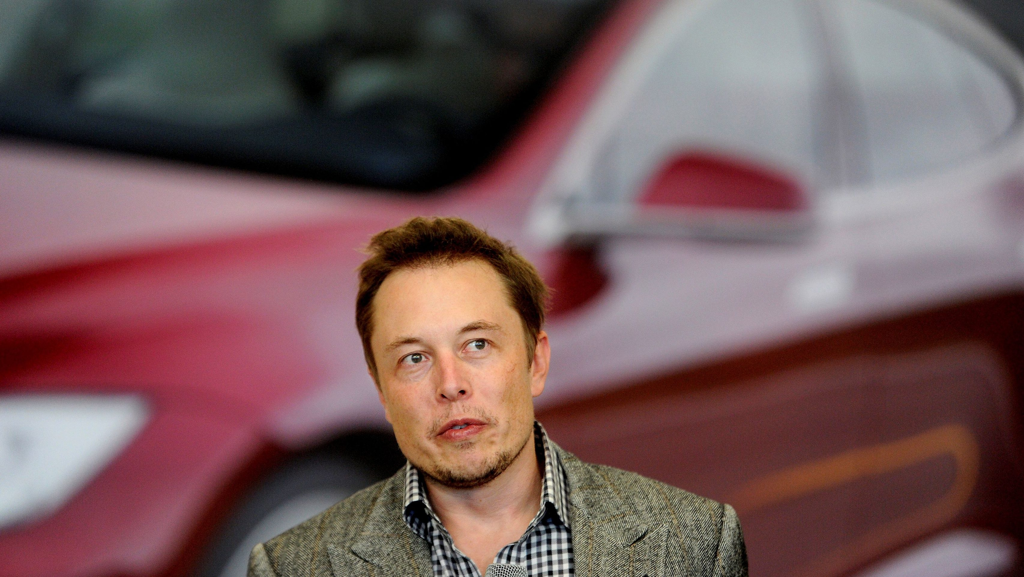 Tesla Chief Executive Office Elon Musk speaks at his company's factory in Fremont, California, U.S., June 22, 2012.