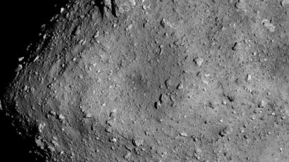 The asteroid Ryugu photographed from 6 kilometers away by the space probe Hayabusa2.