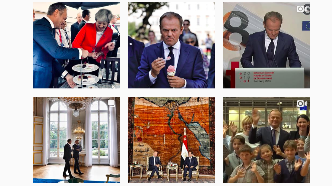Donald Tusk's Instagram photos are the perfect way to interpret European politics