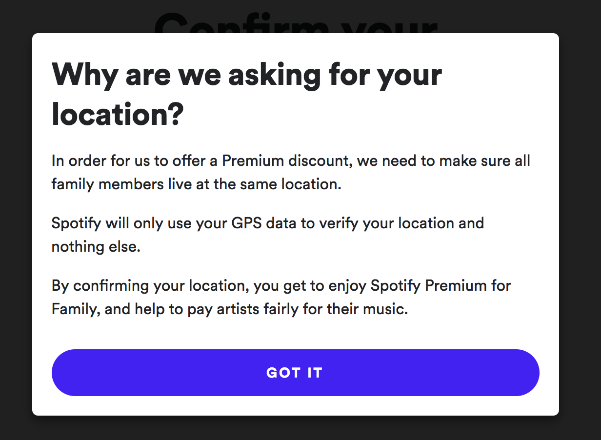 Spotify is demanding family-plan users hand over GPS data — Quartzy