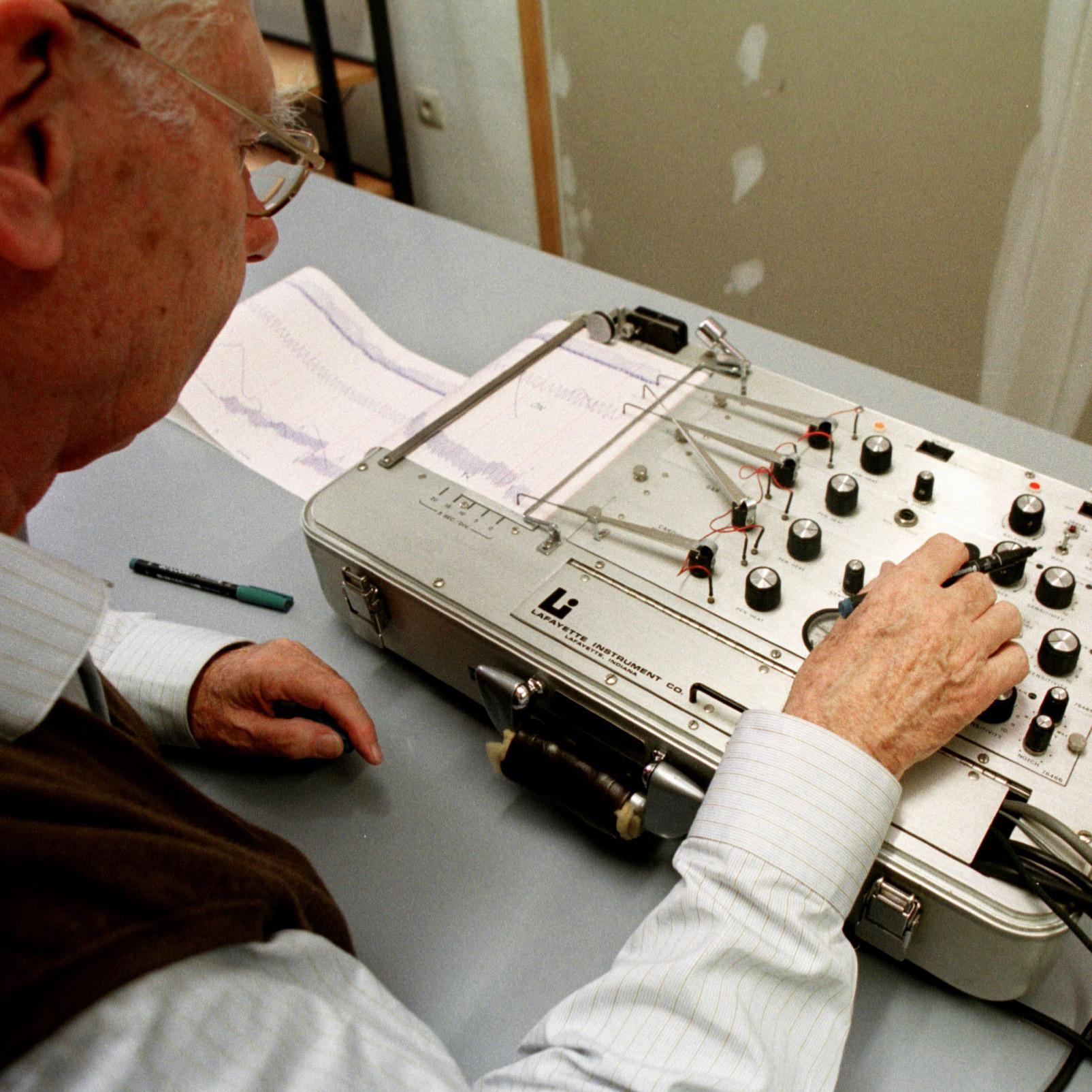 A polygraph machine.