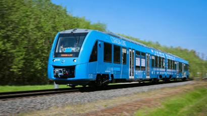 The world's first hydrogen-powered train makes almost