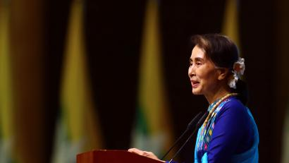 Image result for The emergence of Suu kyi
