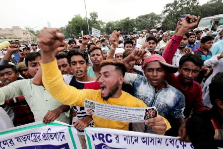 Protests against the NRC continued in Kolkata