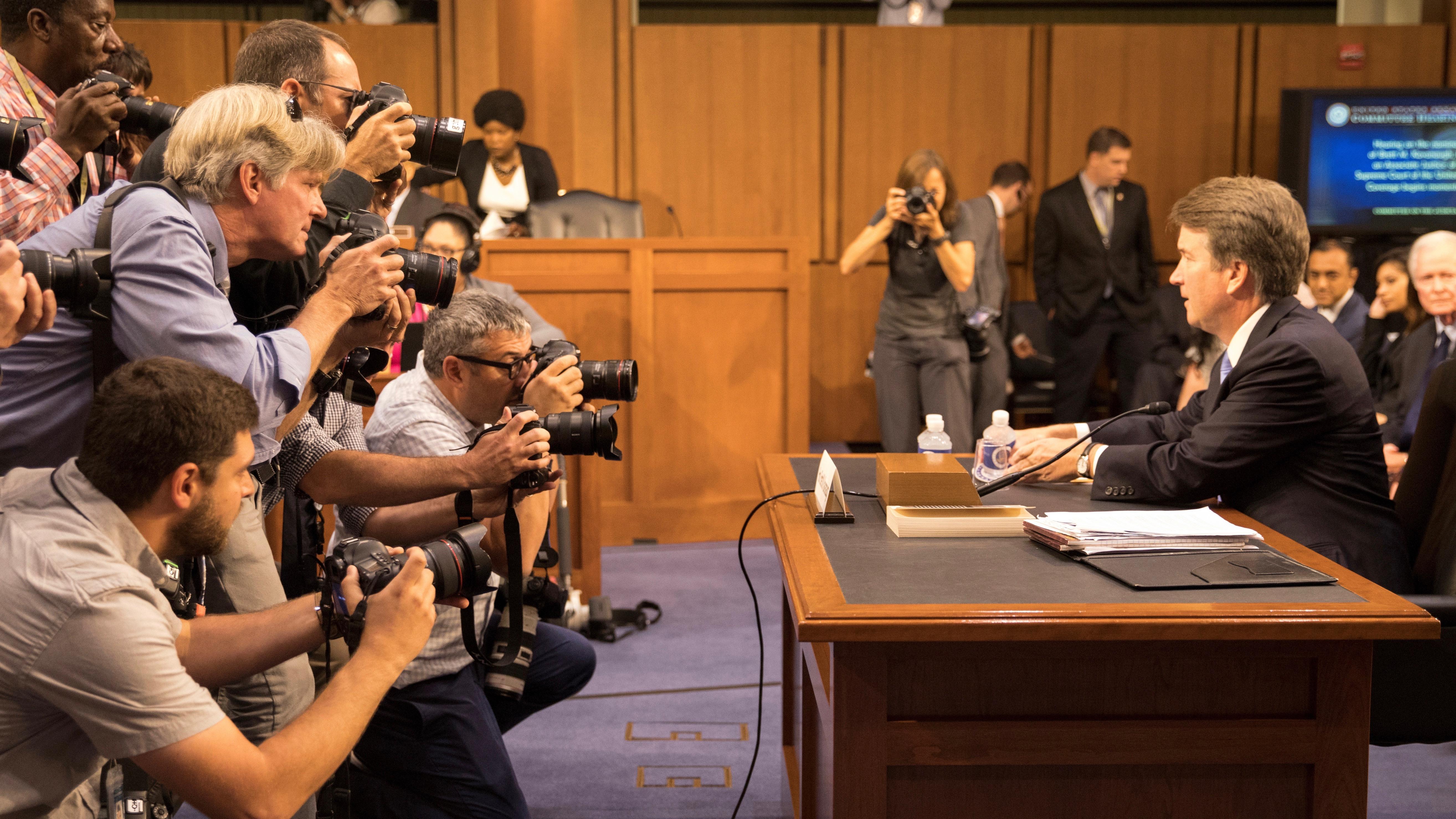 US Supreme Court nominee Brett Kavanaugh testifies in Washington