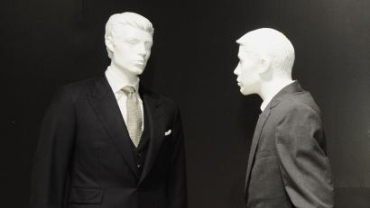 Mannequins in suits