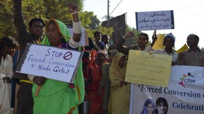 Pakistan-religion-forced-conversion-protest