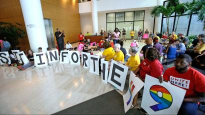 Activists at a Pulse nightclub shooting sit-in