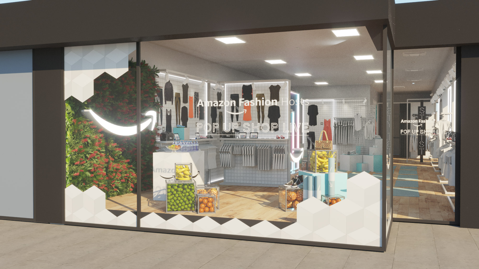 Hints Retail Further London Fashion At Ambitions Amazon's Pop Up oerdCWxB