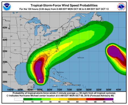 the tropical storm picked up enough speed to develop into a category one  hurricane over the course of just a few hours, and is expected to become as  a