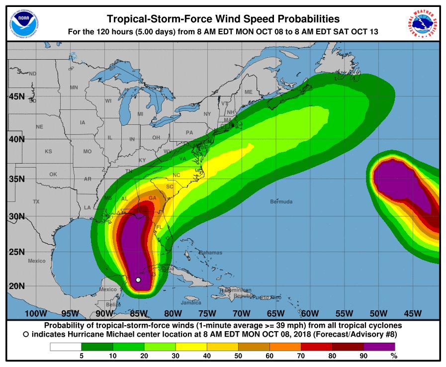 Map Florida Panhandle.Tropical Storm Michael Is Now Hurricane Michael Quartz