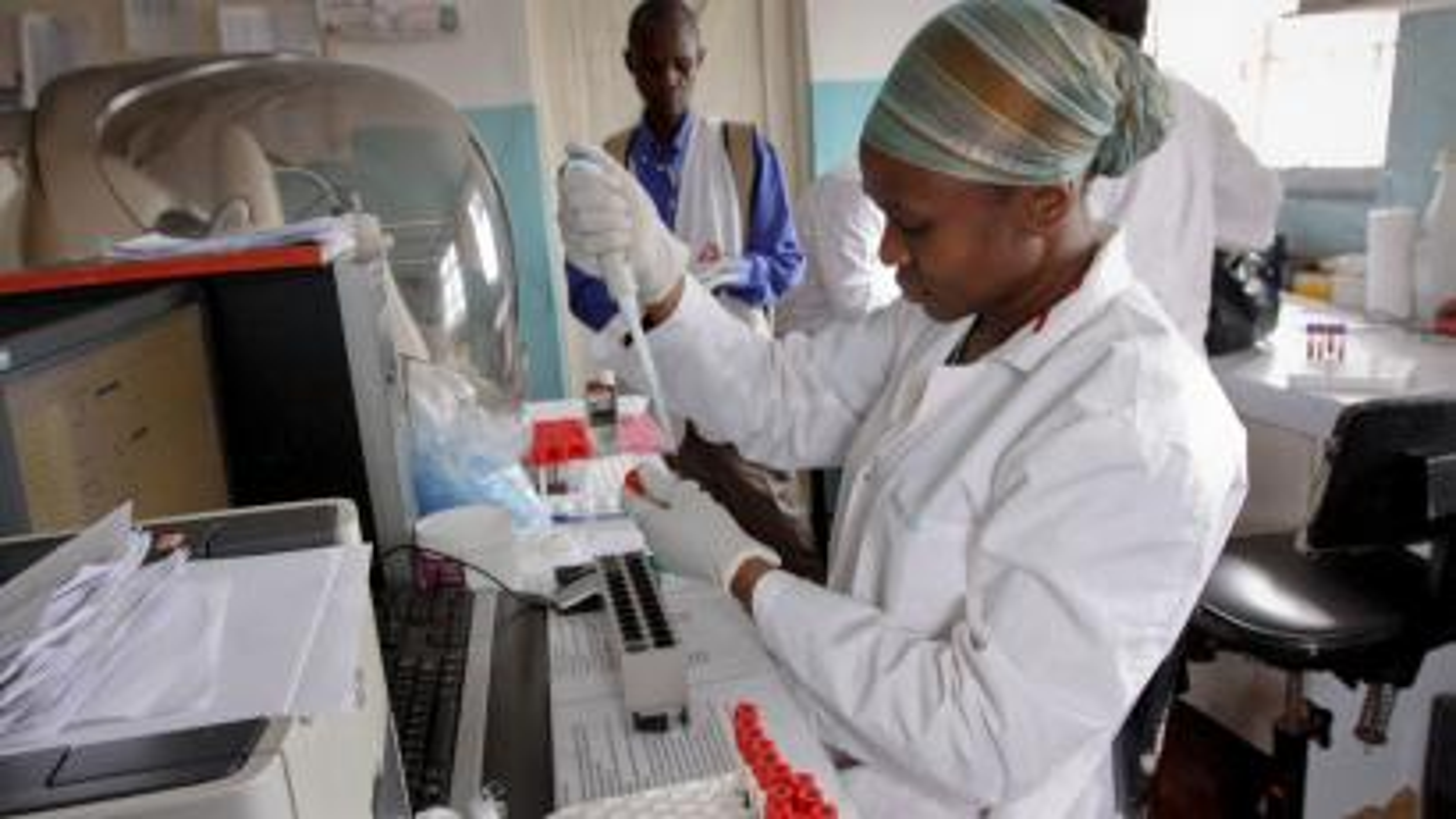 scientists african nairobi hiv ap continent every africa kenya health healthcare leaving senosi khalil data