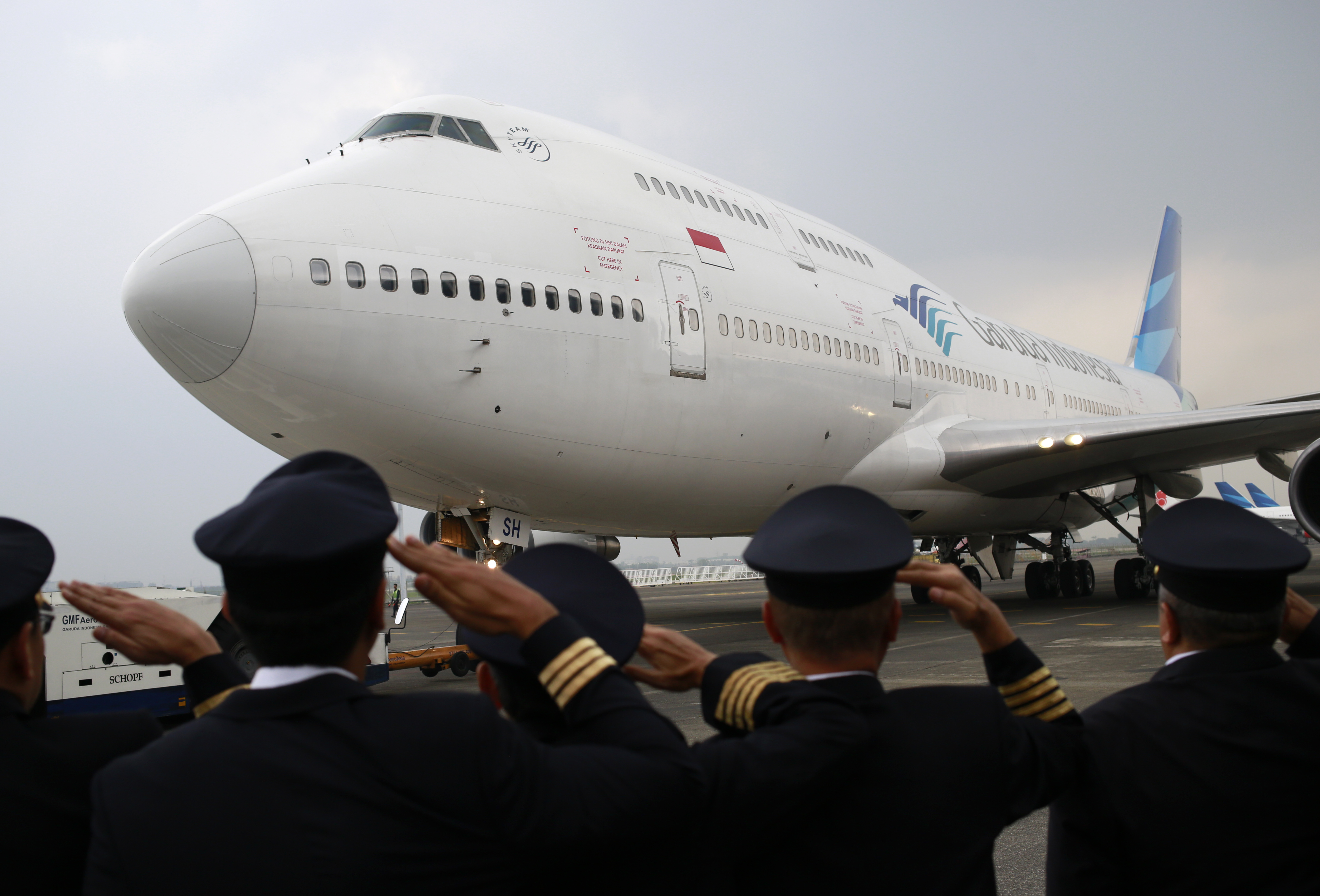 Garuda Indonesia bid farewell to the Boeing 747