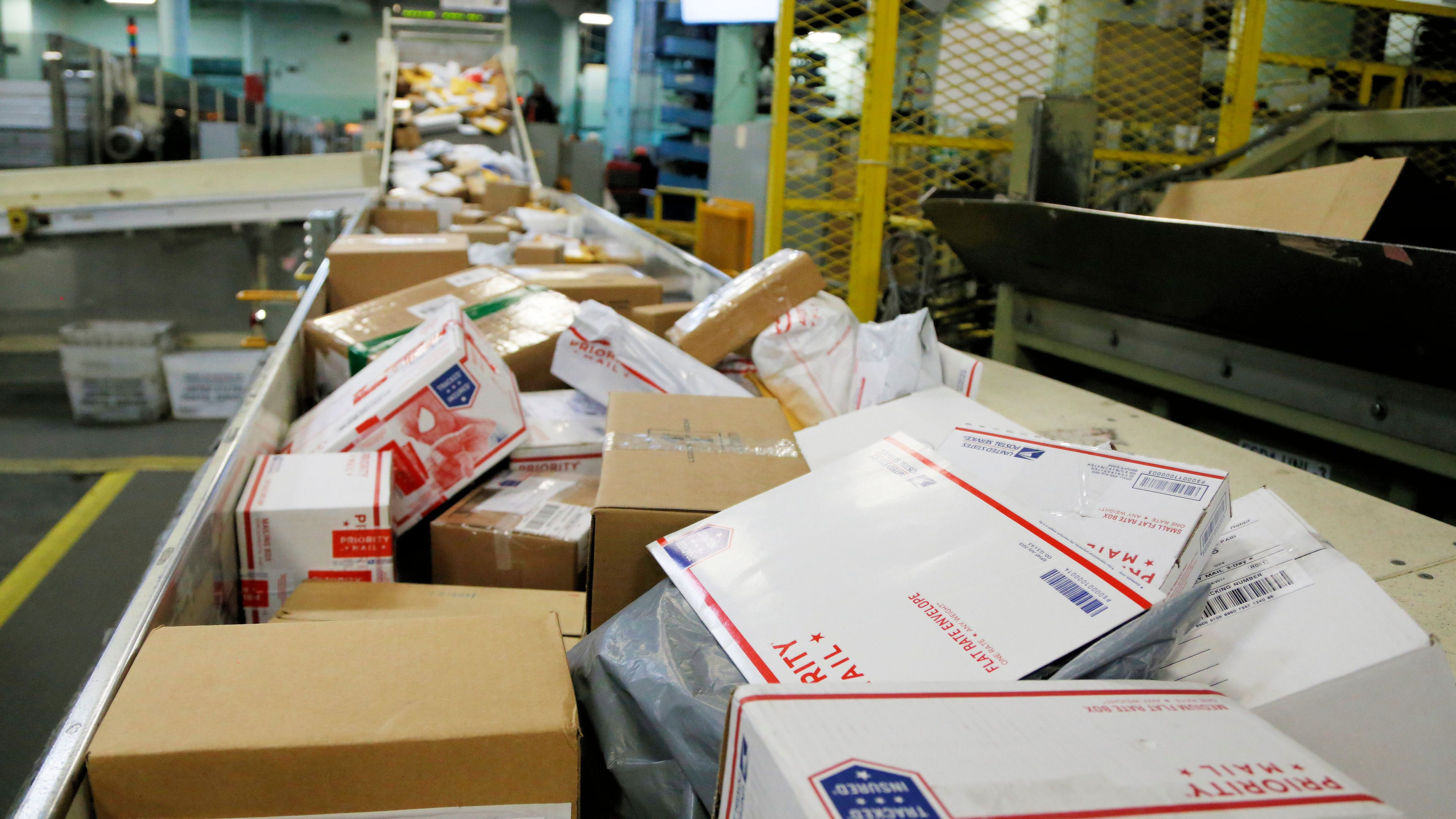 mail at US Post Office
