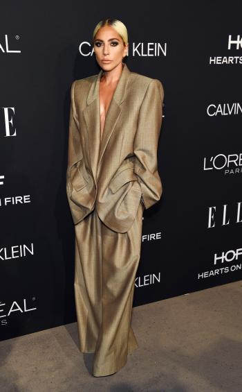 Lady Gaga poses at the 25th Annual ELLE Women in Hollywood Celebration, Monday, Oct. 15, 2018, in Los Angeles. (Photo by Chris Pizzello/Invision/AP)