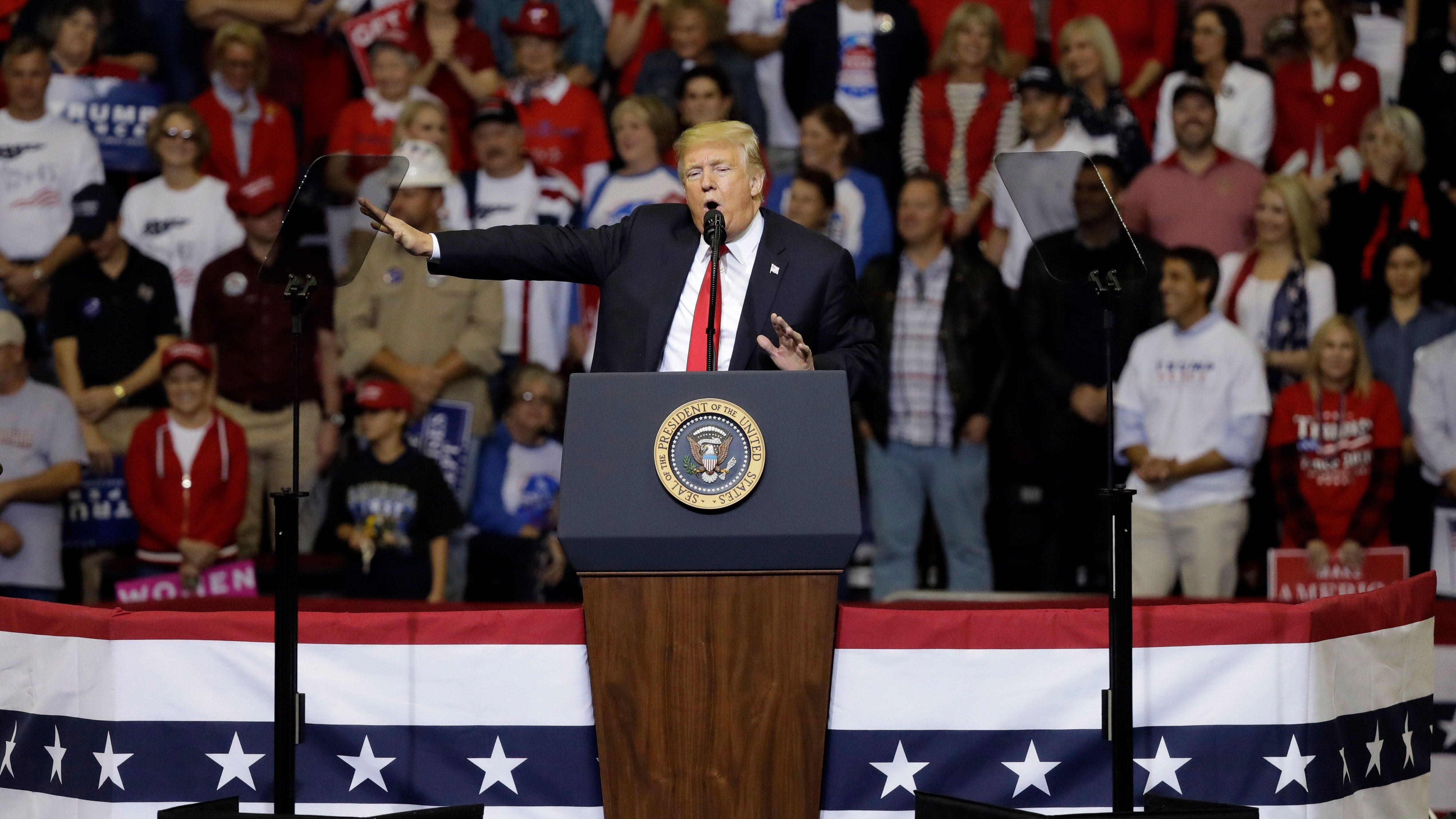 """Trump attacks """"deep state"""" leakers"""