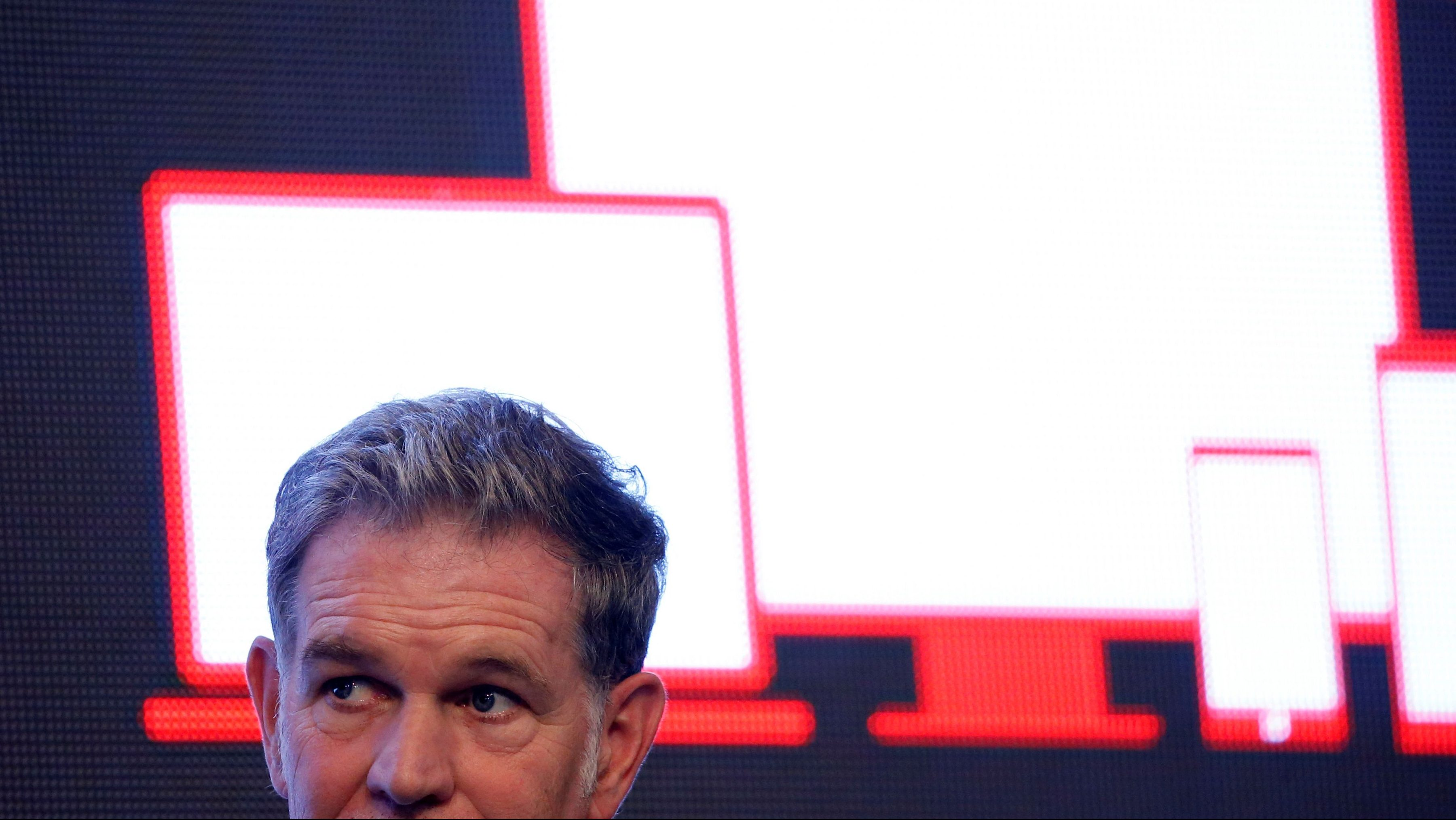 Reed Hastings, co-founder and CEO of Netflix, attends a news conference in Seoul,