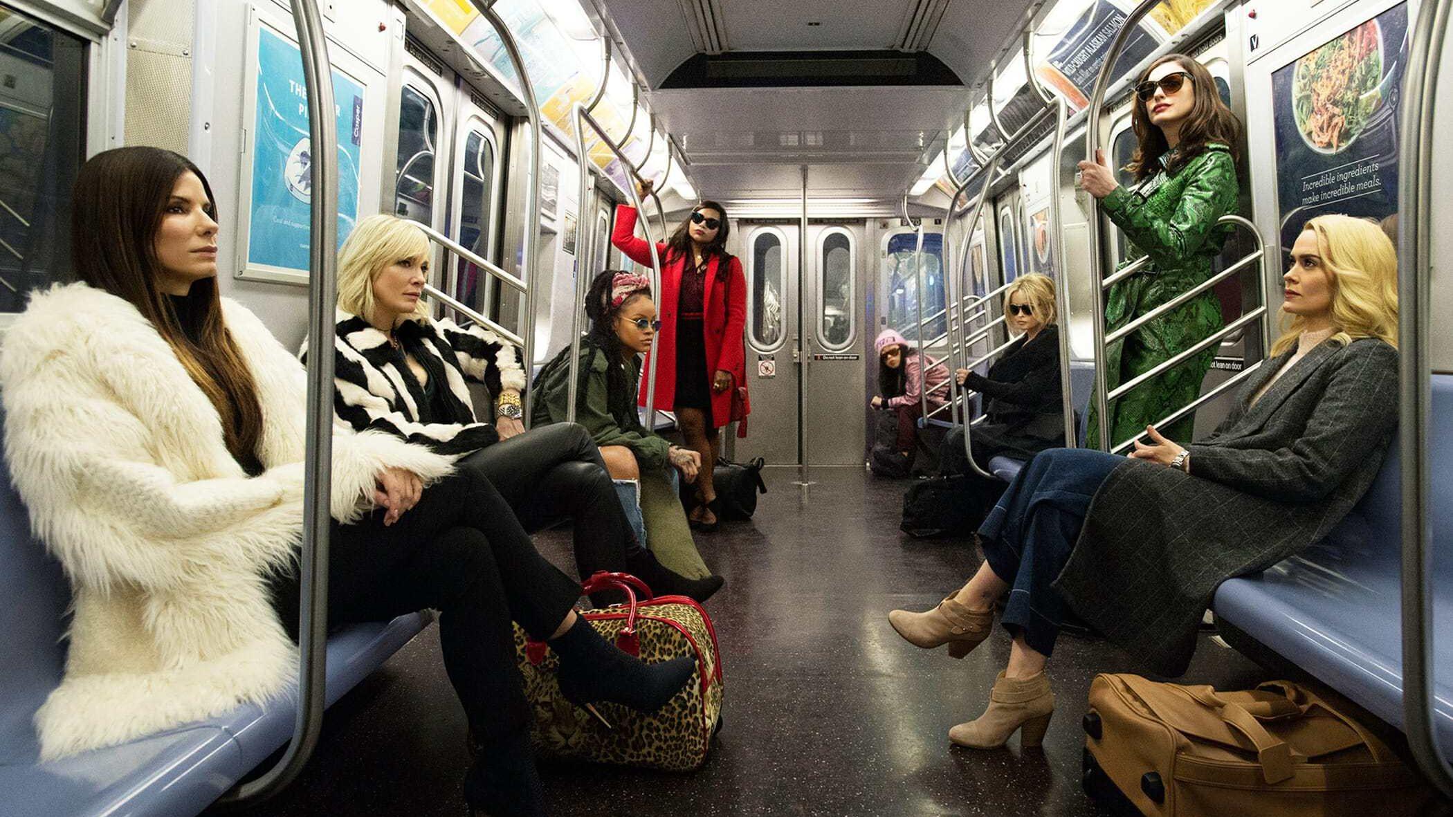 """""""Ocean's 8"""" movie still featuring Sandra Bullock, Cate Blanchett, Rihanna and more"""