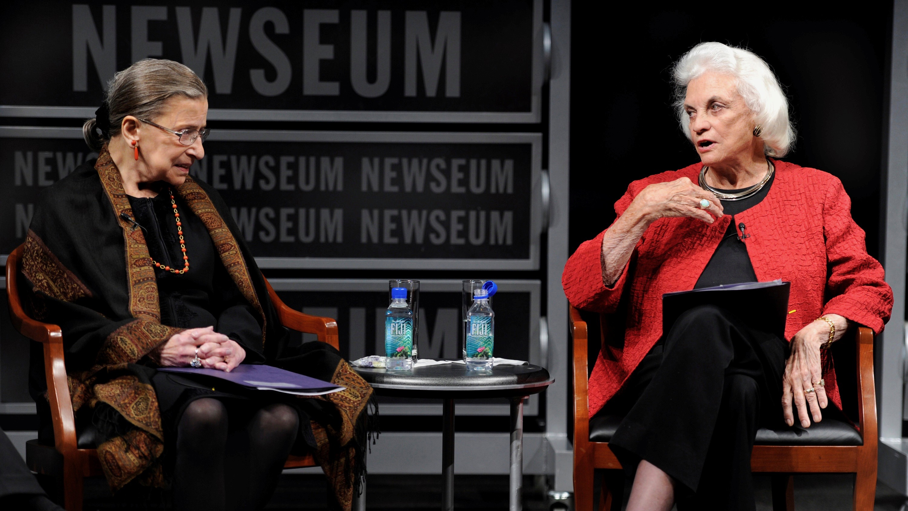 Giants of the law, Ruth Bader Ginsburg and Sandra Day O'Connor.