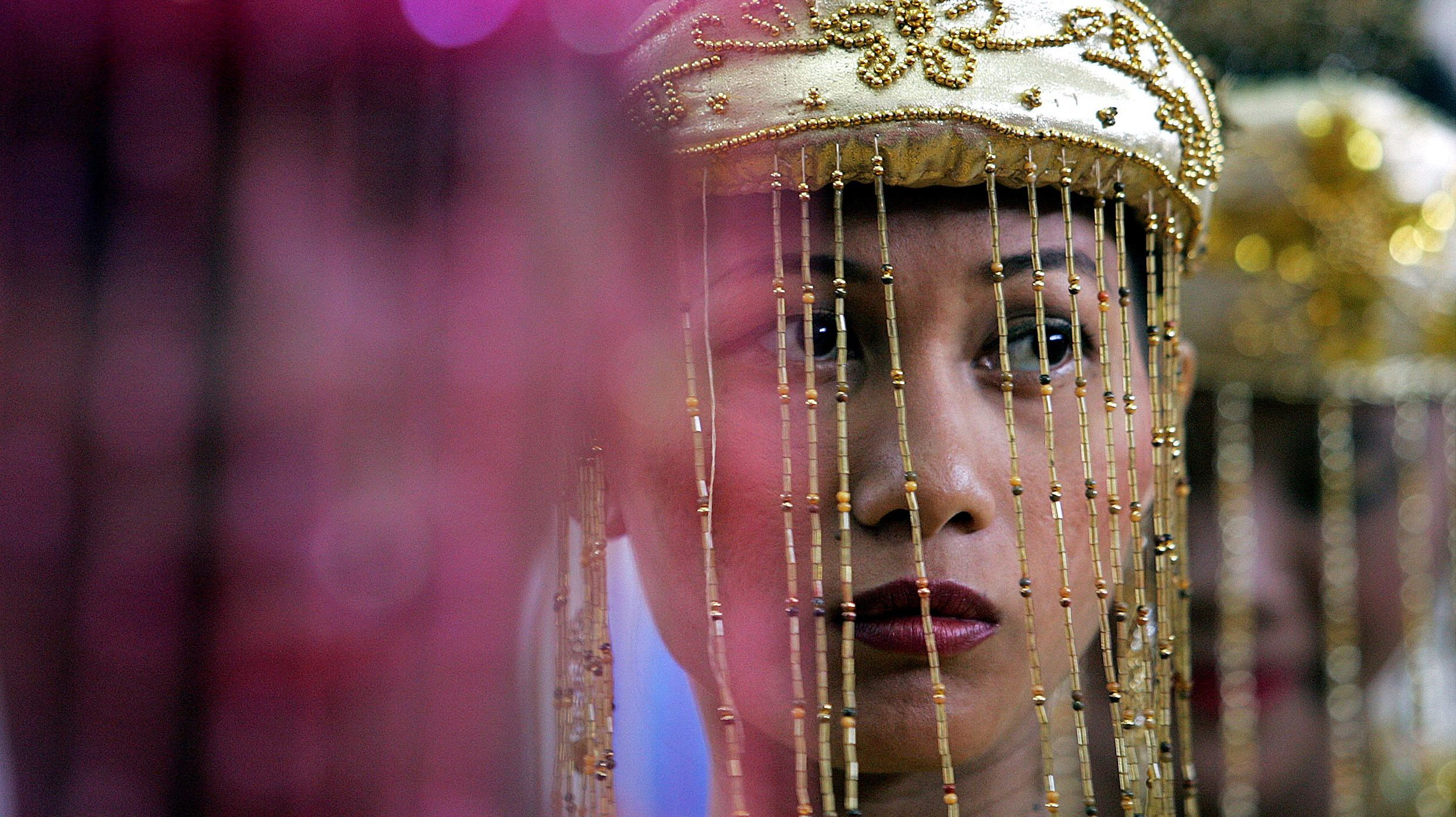 Indonesian woman at a wedding.