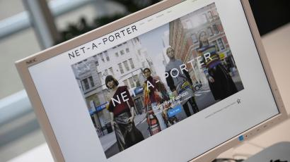 9c8d7cd04552 A web page for online clothing retailer Yoox Net-A-Porter is seen at
