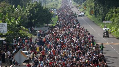 A caravan of thousands of migrants from Central America